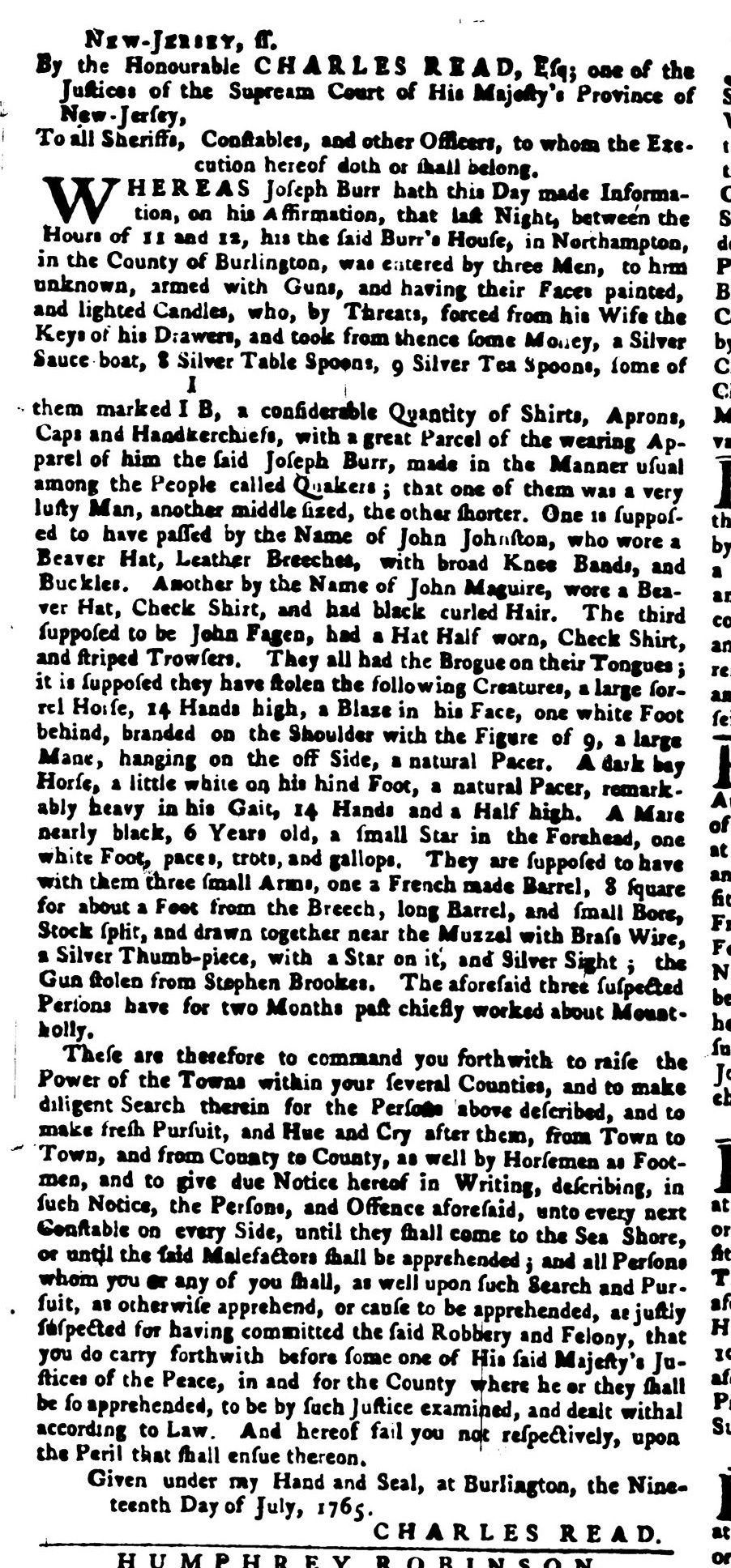 PA Gazette, 25 July 1765.jpg